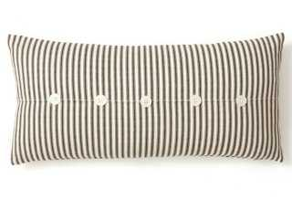 Ticking 10x20 Cotton Pillow - Feather/down insert - One Kings Lane