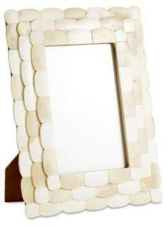 Scalloped Bone Frame, 4x6, Ivory - One Kings Lane