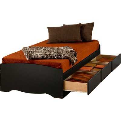 Sonoma Extra Long Twin Platform Bed with Storage in Black - Wayfair