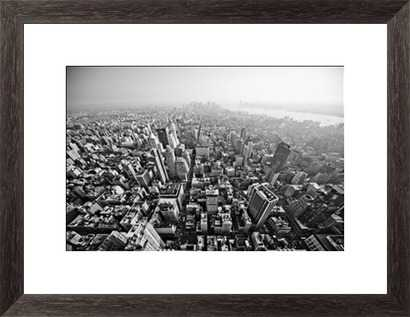 "New York City - 46"" x 34"" - Framed - Photos.com by Getty Images"