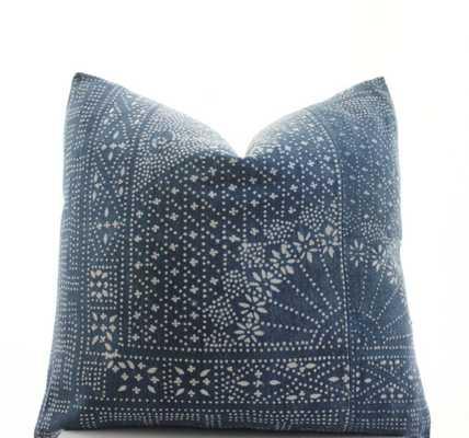 Chinese Indigo Batik Pillow Cover-20x20-No insert - Etsy
