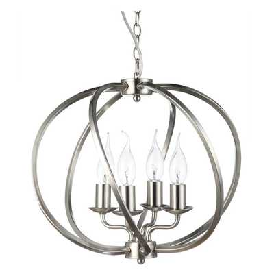 Dorado 16-inches LED Adjustable Hanging Industrial Globe Chandelier Lighting with LED Filament Bulbs - Overstock