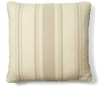 Sawyer 18x18 Cotton Pillow, Natural,insert, conjugated micro denier polyester - One Kings Lane