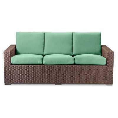 Threshold™ Heatherstone All Weather Wicker Sofa - Seafoam - Target