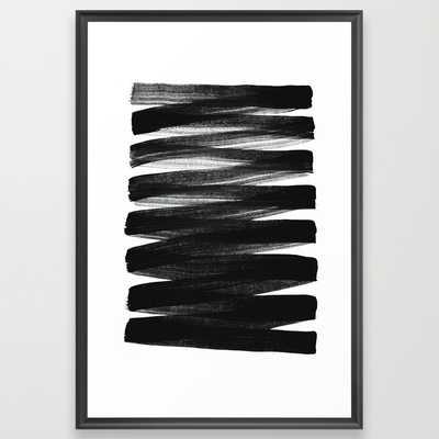 "TX01 - FRAMED ART PRINT/ SCOOP BLACK LARGE (GALLERY) (26"" X 38"") - Society6"