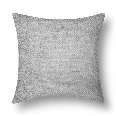 Westfield Chenille Toss Pillow - Grey - 18sq. - Polyester fill - Target