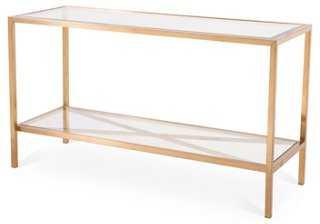 Gardner Console Table, Gold - One Kings Lane