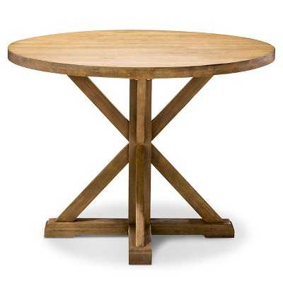 "Farmhouse 42"" Round Dining Table - Acorn - Target"