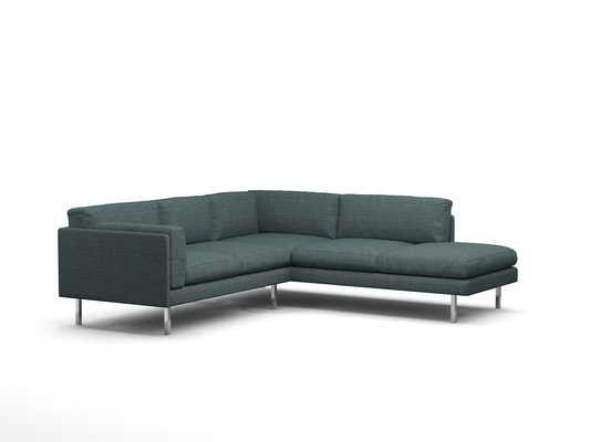 SKINNY FAT CORNER SECTIONAL WITH BUMPER - Charcoal - Benchmademodern.com