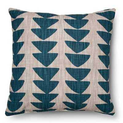 """Thresholdâ""""¢ Printed Uneven Triangle Pillow-White/Green -18"""" x 18""""- With fill - Target"""