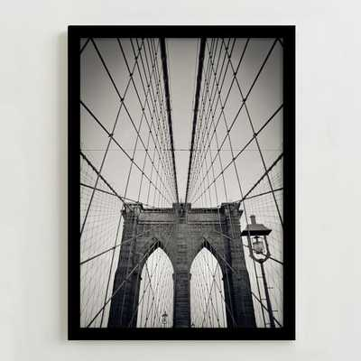 "Framed Print - Brooklyn Bridge- 14""w x 20""h. - West Elm"
