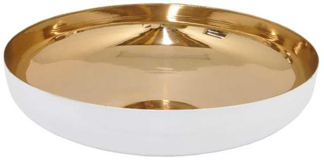 Three Hands Decorative Bowl, Large - Bronze/White - casa.com