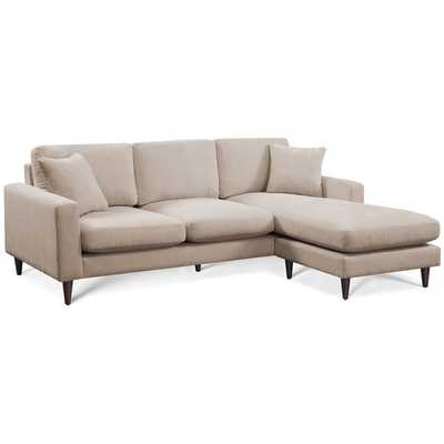 Shaffer Buff Fabric Two-piece Sectional Sofa - Overstock