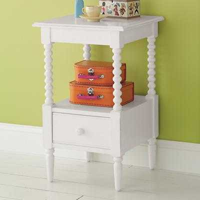 Jenny Lind Small Nightstand (White) - Land of Nod