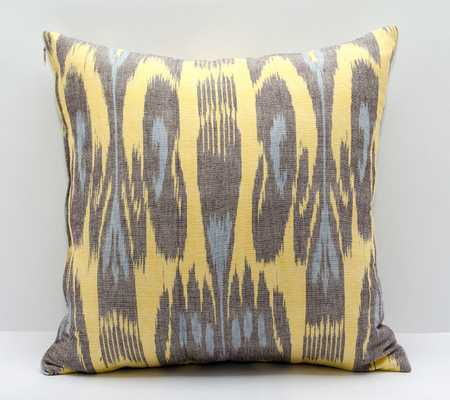 """15""""x15"""" blue yellow cotton ikat pillow cover - Etsy"""