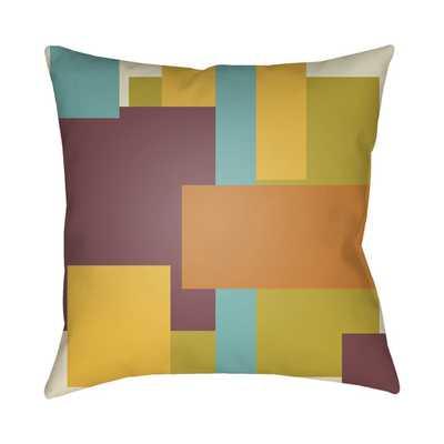 "Modeme Throw Pillow - Orange/Yellow/Purple (18""SQ) - AllModern"