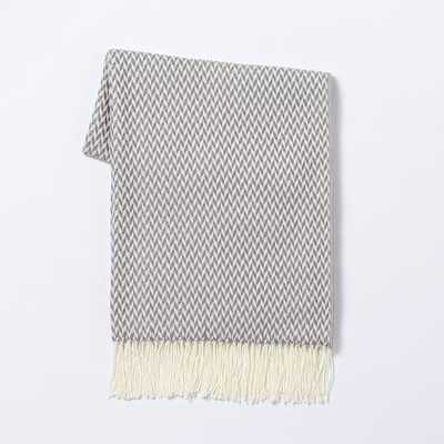 Warmest Throw - Arrow Jacquard - Soot - West Elm