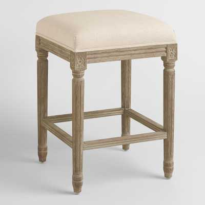 Natural Linen Paige Backless Counter Stool - World Market/Cost Plus
