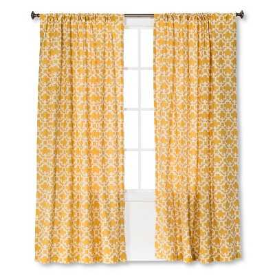 "Farrah Fretwork Curtain Panel - Yellow - 54""W x 84""L - Target"