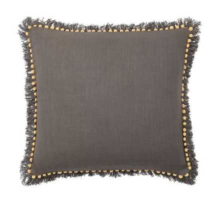 "Bauble Fringe Pillow Cover - Gray/Yellow - 18"" x 18"" - Insert Sold Separately - Pottery Barn"