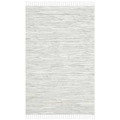 Montauk Silver Abstract Outdoor Area Rug - Wayfair