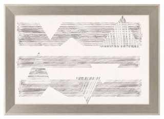 Goldberger, Stagger Triangles I - 24x34, Framed - One Kings Lane