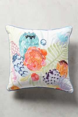 "Majorcan Garden Pillow - 12"" x 27"" - Polyfill - Anthropologie"