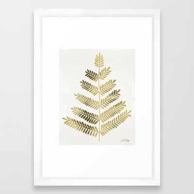 Gold Leaflets - framed - Society6