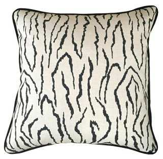 Zebra 20x20 Pillow, Ivory- Feather/down fill insert - One Kings Lane