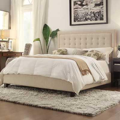 Aurelia Panel Bed - Beige, Queen - Wayfair
