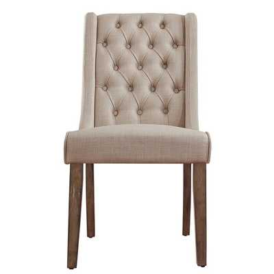 SIGNAL HILLS Evelyn Tufted Wingback Hostess Chairs (Set of 2) - Beige linen - Overstock