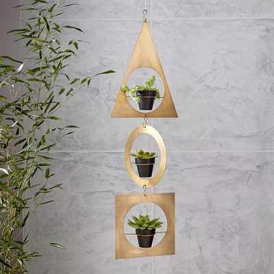 Geometric Metal Hanging Planter - West Elm