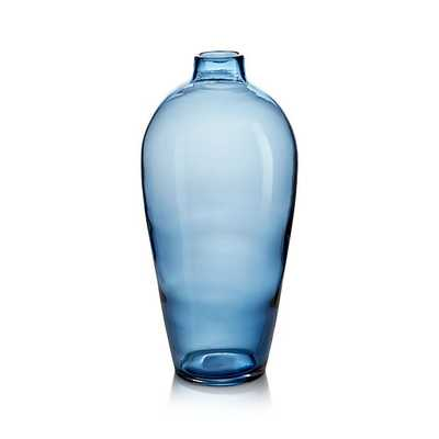 Ashby Large Navy Blue Glass Vase - Crate and Barrel