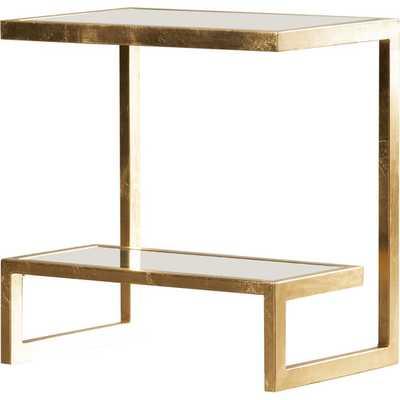 Freidman End Table - Gold / Mirror - AllModern