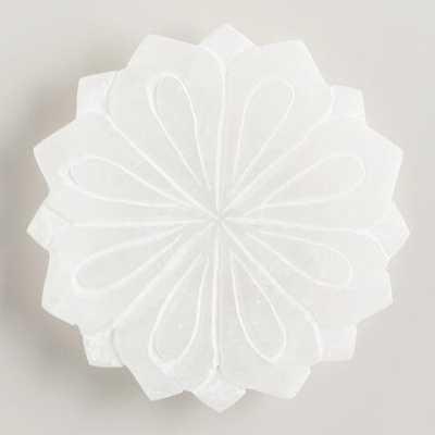 Alabaster Lotus Soap Dish - World Market/Cost Plus