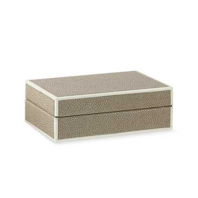 Faux Shagreen Box, Ivory- Small - Williams Sonoma