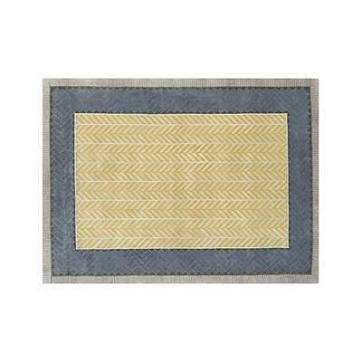 Piven Chevron Wool-Blend Rug - Crate and Barrel