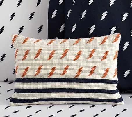 """Lightning Bolt Decorative Pillows - Navy - 9"""" x 13"""" - Polyester fill - Pottery Barn Kids"""