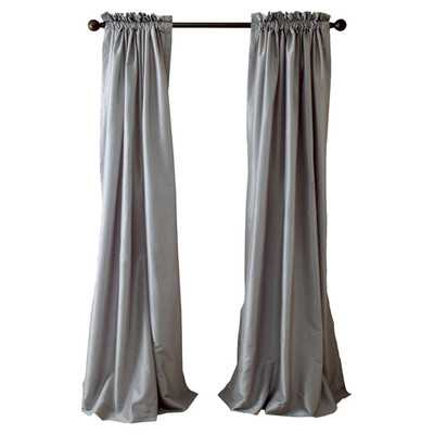 Faux Silk Curtain Panel - Wayfair