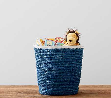 Navy Raffia Large Storage - Pottery Barn Kids