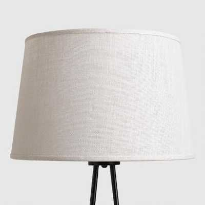 Marshmallow White Burlap Floor Lamp Shade - World Market/Cost Plus
