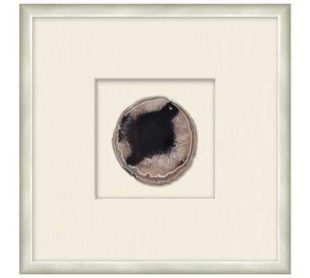 "Framed Agate Shadowbox- 13.25"" x 1.25"" x 13.25""- Silver Frame - Pottery Barn"
