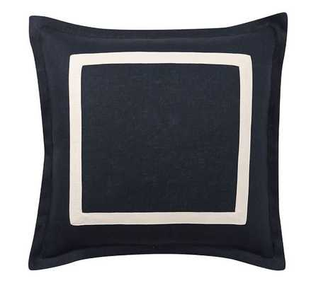 TEXTURED LINEN FRAME PILLOW COVER - 20x20 insert sold separately - Pottery Barn
