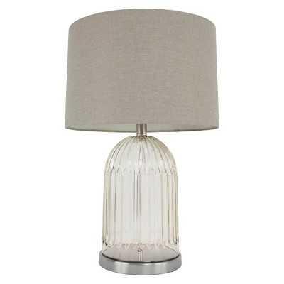 J. Hunt Glass & Brushed Steel Lamp - Target