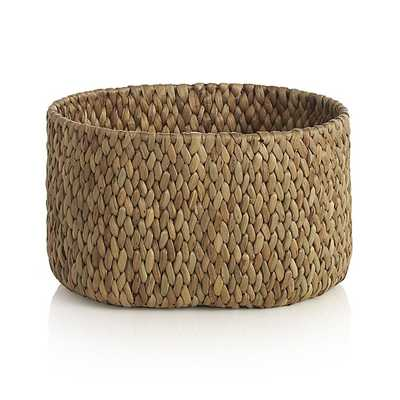 Water Hyacinth Small Oval Basket - Crate and Barrel