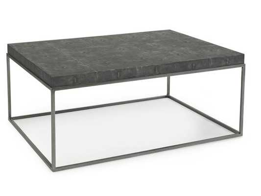 STEEL/FAUX SHAGREEN COCKTAIL TABLE - Curated Kravet
