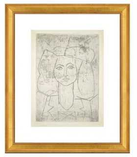 Portrait of Françoise, dressed - 20 x 18 - Gold Frame- With mat - One Kings Lane