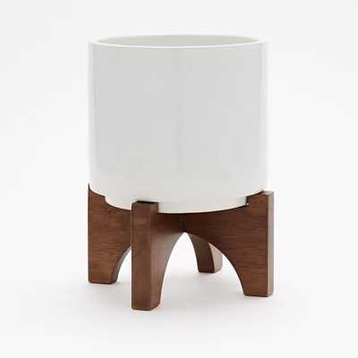 Mid-Century Turned Leg Tabletop Planter - Large - West Elm