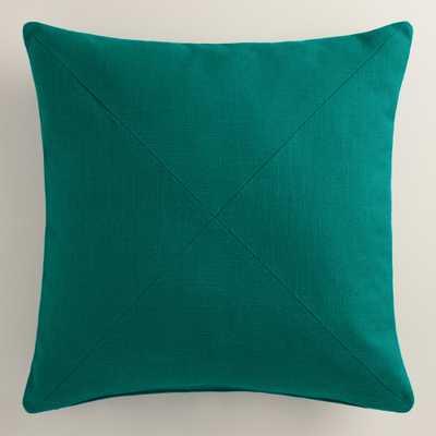 Herringbone Cotton Throw Pillow - World Market/Cost Plus