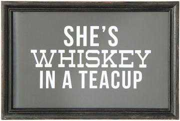 SHE'S WHISKEY IN A TEACUP FRAMED WALL ART - Home Decorators